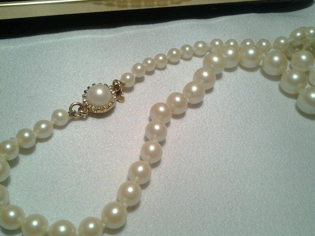 Vintage Gold Hobe Made In Majorca Spain Fx Pearl Bead