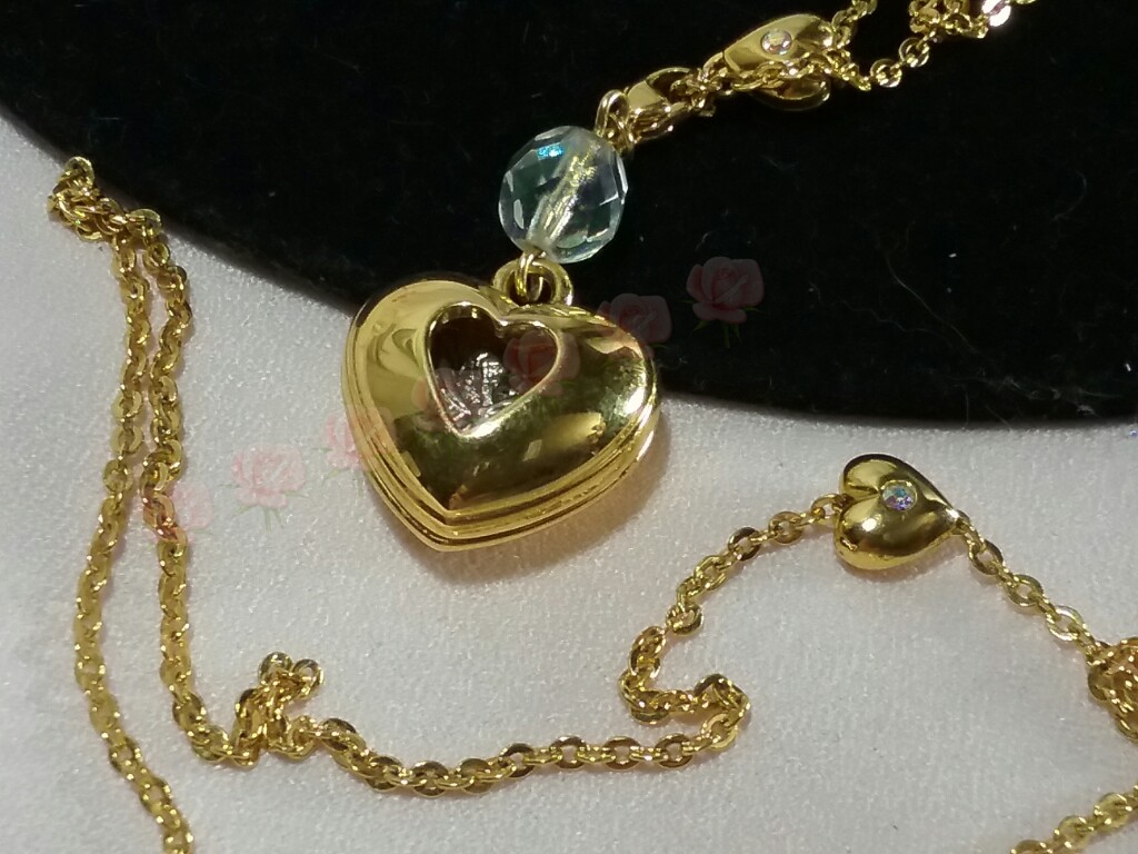 Kirks Folly Heart Cherub Necklace